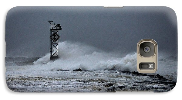 Galaxy Case featuring the photograph Angry Ocean In Ocean City by Bill Swartwout