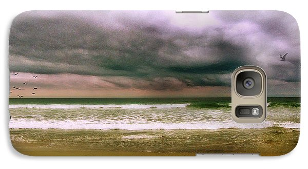 Galaxy Case featuring the digital art Angry October Sky by Rhonda Strickland