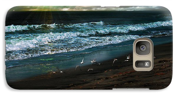 Galaxy Case featuring the digital art Angry Skies by Rhonda Strickland