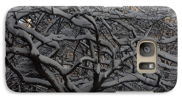 Galaxy Case featuring the photograph Angular Tree With Snow by Winifred Butler