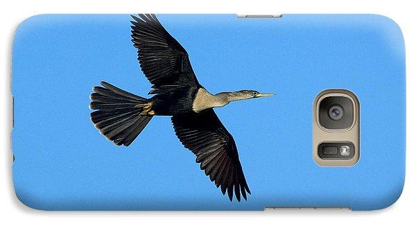 Anhinga Female Flying Galaxy S7 Case by Anthony Mercieca
