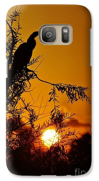 Galaxy Case featuring the photograph Anhinga Sunset by Lynda Dawson-Youngclaus