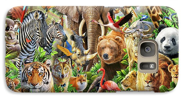 Galaxy Case featuring the drawing Animal Mix by Adiran Chesterman