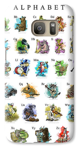 Animals And Instruments Alphabet Galaxy Case by Sean Hagan