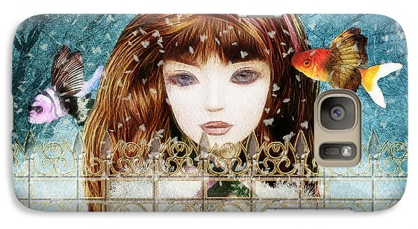 Galaxy Case featuring the digital art Aniolina Felicslawa by Barbara Orenya