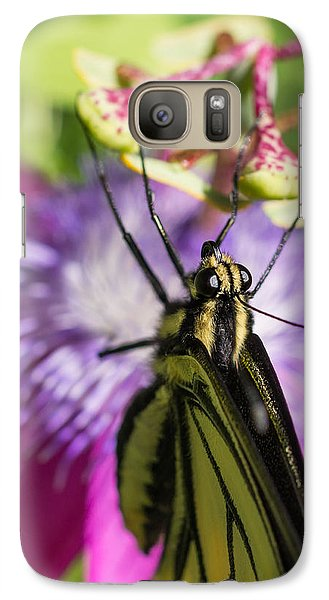 Galaxy Case featuring the photograph Anise Swallowtail Butterfly And Passionflower by Priya Ghose