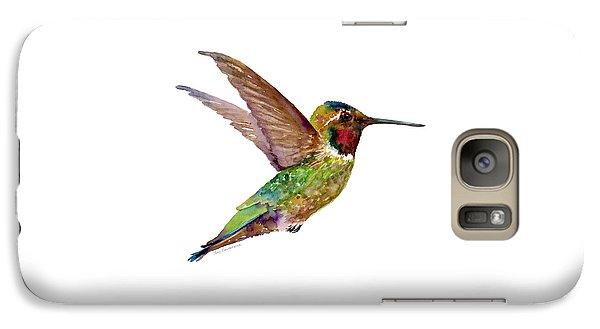 Anna Hummingbird Galaxy Case by Amy Kirkpatrick
