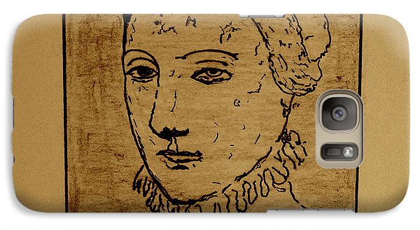 Galaxy Case featuring the drawing Anne by Bill OConnor