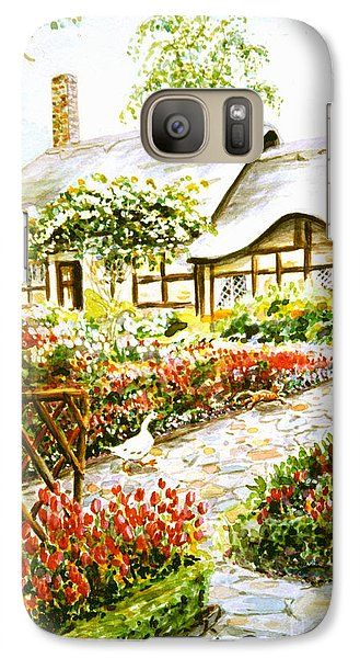 Galaxy Case featuring the painting Anne Hathaway's Cottage At Stratford Upon Avon by Dee Davis