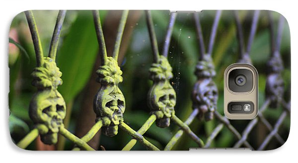 Galaxy Case featuring the photograph Anne Rice Fence by Heather Green