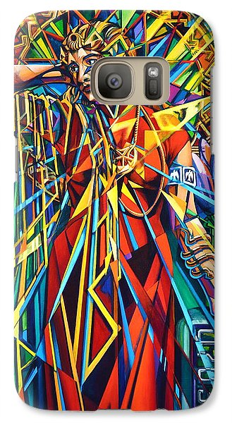 Galaxy Case featuring the painting Annelise2 by Greg Skrtic