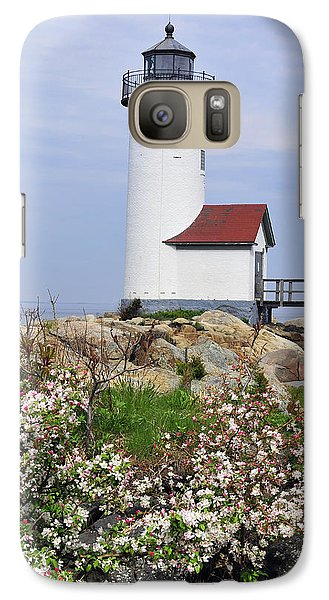 Galaxy Case featuring the photograph Annisquam Harbor Light Station 2 by Dan Myers