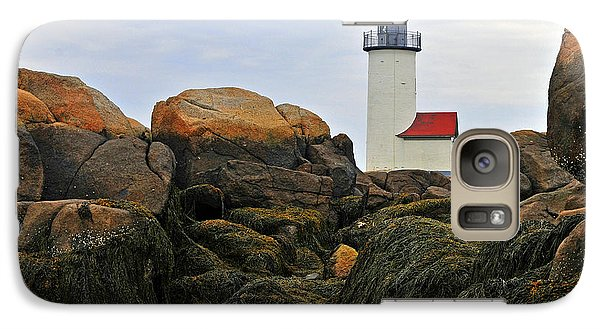 Galaxy Case featuring the photograph Annisquam Harbor Light Station by Dan Myers