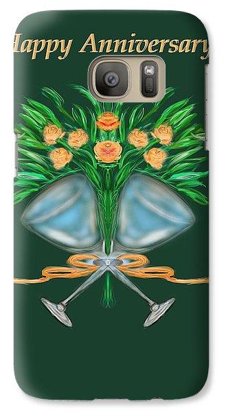 Galaxy Case featuring the digital art Anniversary Bouquet by Christine Fournier