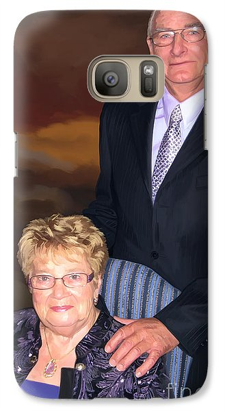 Galaxy Case featuring the painting Anniversary Portrait by Tim Gilliland