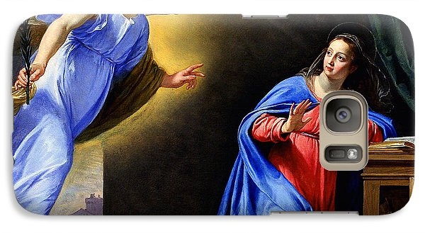 Galaxy Case featuring the painting Annunciation by Philippe de Champaigne