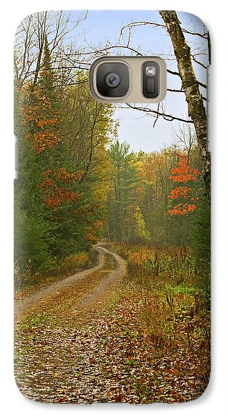 Galaxy Case featuring the photograph Another Iola  Wisconsin Rural Road by Judy  Johnson