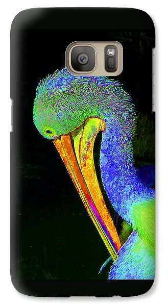 Galaxy Case featuring the photograph Another Pelican Partygoer by Margaret Saheed