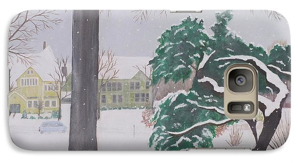 Galaxy Case featuring the painting Another Snow Fall by Hilda and Jose Garrancho