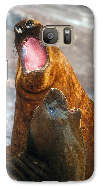 Galaxy Case featuring the photograph Antarctic Elephant Seals by Dennis Cox WorldViews
