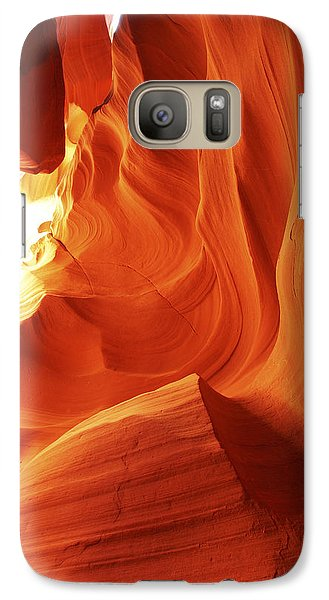 Galaxy Case featuring the photograph Antelope Canyon In Winter Light 1 by Alan Vance Ley