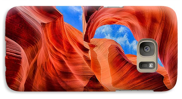 Galaxy Case featuring the photograph Antelope Canyon Walls by Greg Norrell