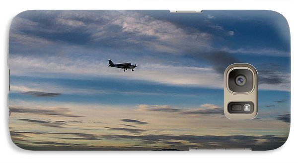 Galaxy Case featuring the photograph Antelope Island - Lone Airplane by Ely Arsha