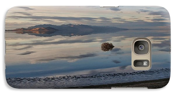 Galaxy Case featuring the photograph Antelope Island - Lone Tumble Weed by Ely Arsha