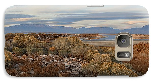 Galaxy Case featuring the photograph Antelope Island - Scenic View by Ely Arsha
