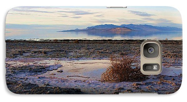 Galaxy Case featuring the photograph Antelope Island - Tumble Weed by Ely Arsha