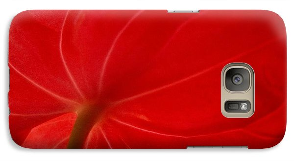 Galaxy Case featuring the photograph Anthurium 2 by Ranjini Kandasamy