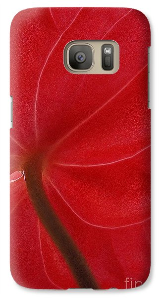 Galaxy Case featuring the photograph Anthurium by Ranjini Kandasamy