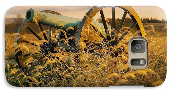 Galaxy Case featuring the photograph Antietam Maryland Cannon Battlefield Landscape by Paul Fearn