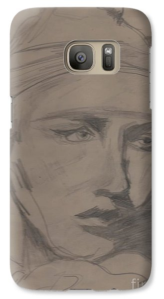 Galaxy Case featuring the drawing Antigone By Jrr by First Star Art
