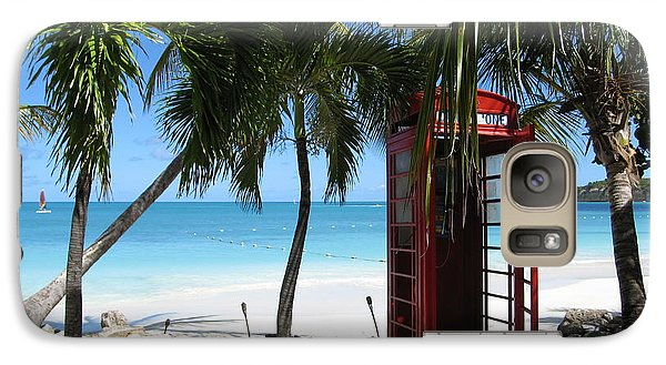 Galaxy Case featuring the photograph Antigua - Phone Booth by HEVi FineArt