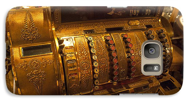 Galaxy Case featuring the photograph Antique Cash Register by Jerry Cowart