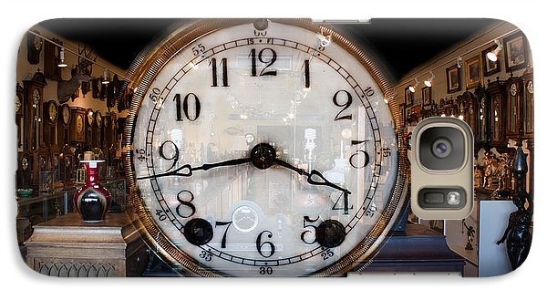 Galaxy Case featuring the photograph Antique Clock Store by Gunter Nezhoda