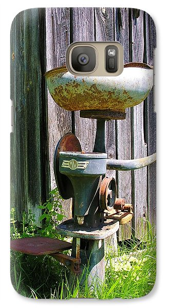 Galaxy Case featuring the photograph Antique Cream Separator by Sherman Perry