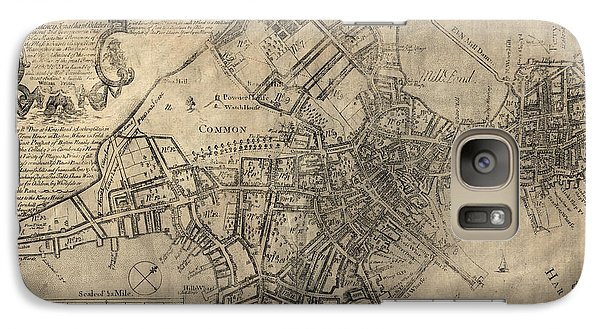 Antique Map Of Boston By William Price - 1769 Galaxy S7 Case by Blue Monocle