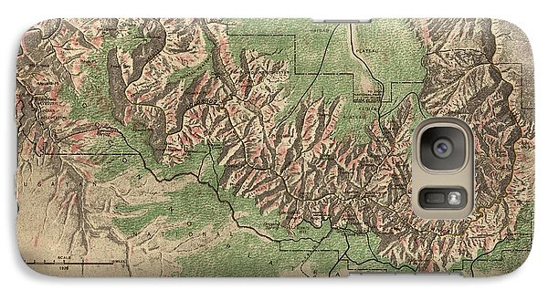 Antique Map Of Grand Canyon National Park By The National Park Service - 1926 Galaxy S7 Case