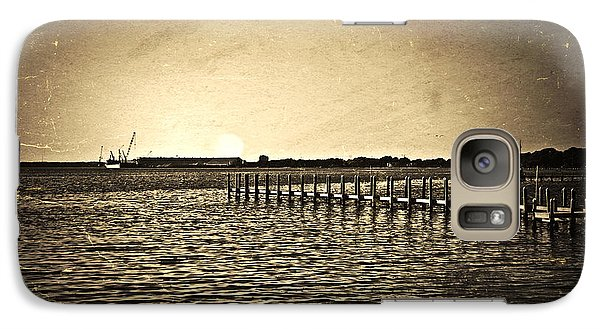 Galaxy Case featuring the photograph Antique Photo Of Pier  by Susan Leggett