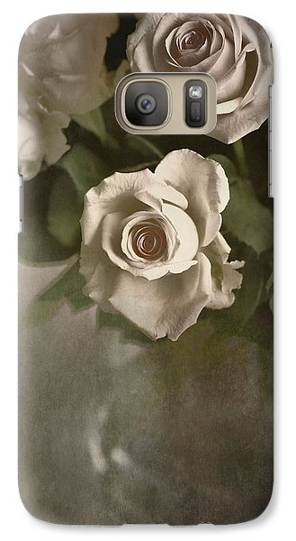 Galaxy Case featuring the photograph Antique Roses by Annie Snel