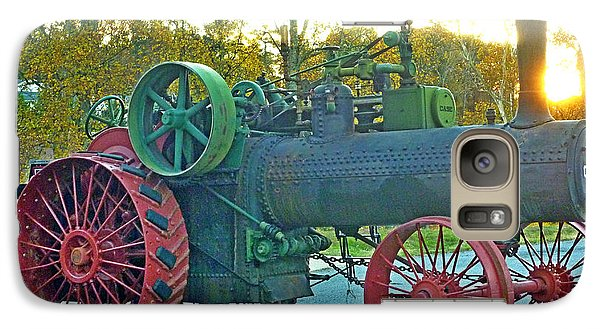 Galaxy Case featuring the photograph Antique Steam Tractor by Pete Trenholm