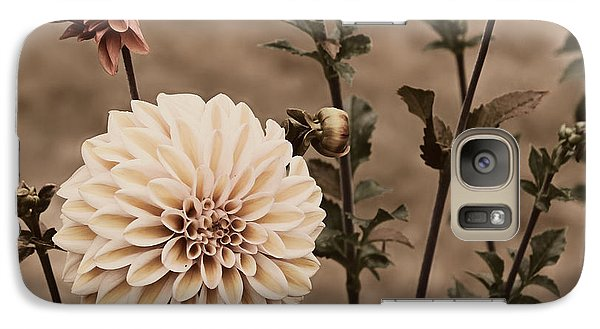 Galaxy Case featuring the photograph Antiqued Dahlias by Jeanette C Landstrom