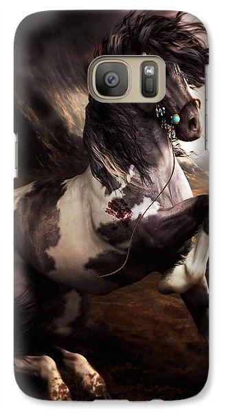 Galaxy Case featuring the digital art Apache Blue by Shanina Conway