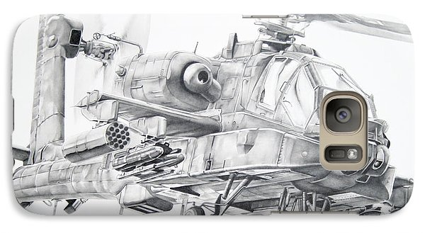 Helicopter Galaxy S7 Case - Apache by James Baldwin Aviation Art