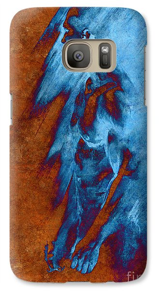 Galaxy Case featuring the drawing Apart With Mood Texture by Paul Davenport