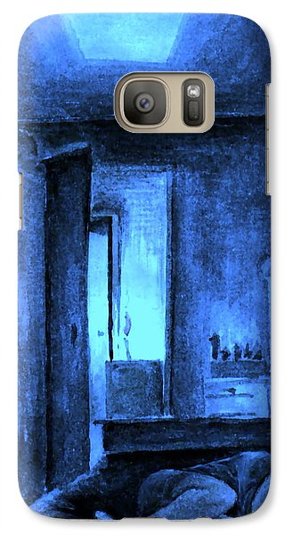 Galaxy Case featuring the painting Apocalypsis 2001 Or Abandoned Soul by Mikhail Savchenko