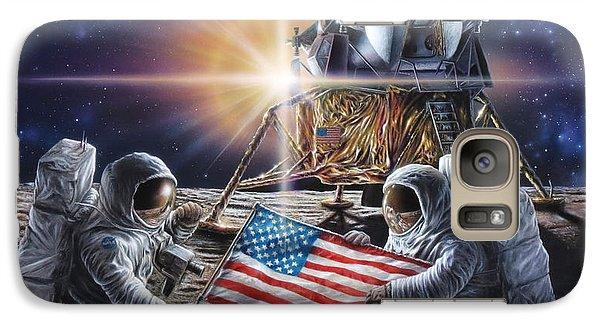 Science Fiction Galaxy S7 Case - Apollo 11 by Don Dixon