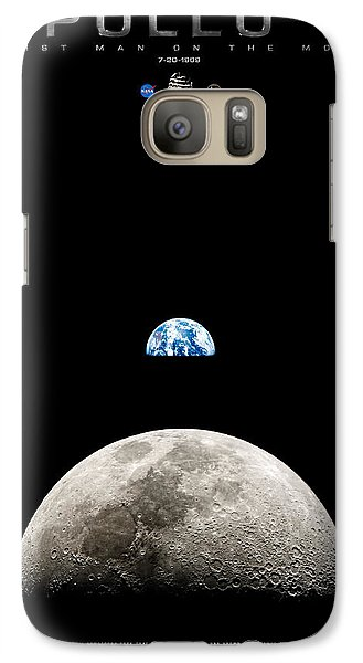 Apollo 11 First Man On The Moon Galaxy S7 Case